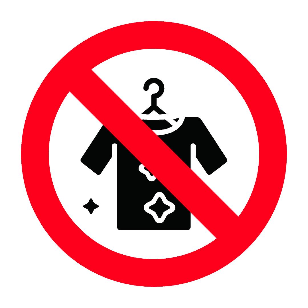 不允许携带纺织品和服装