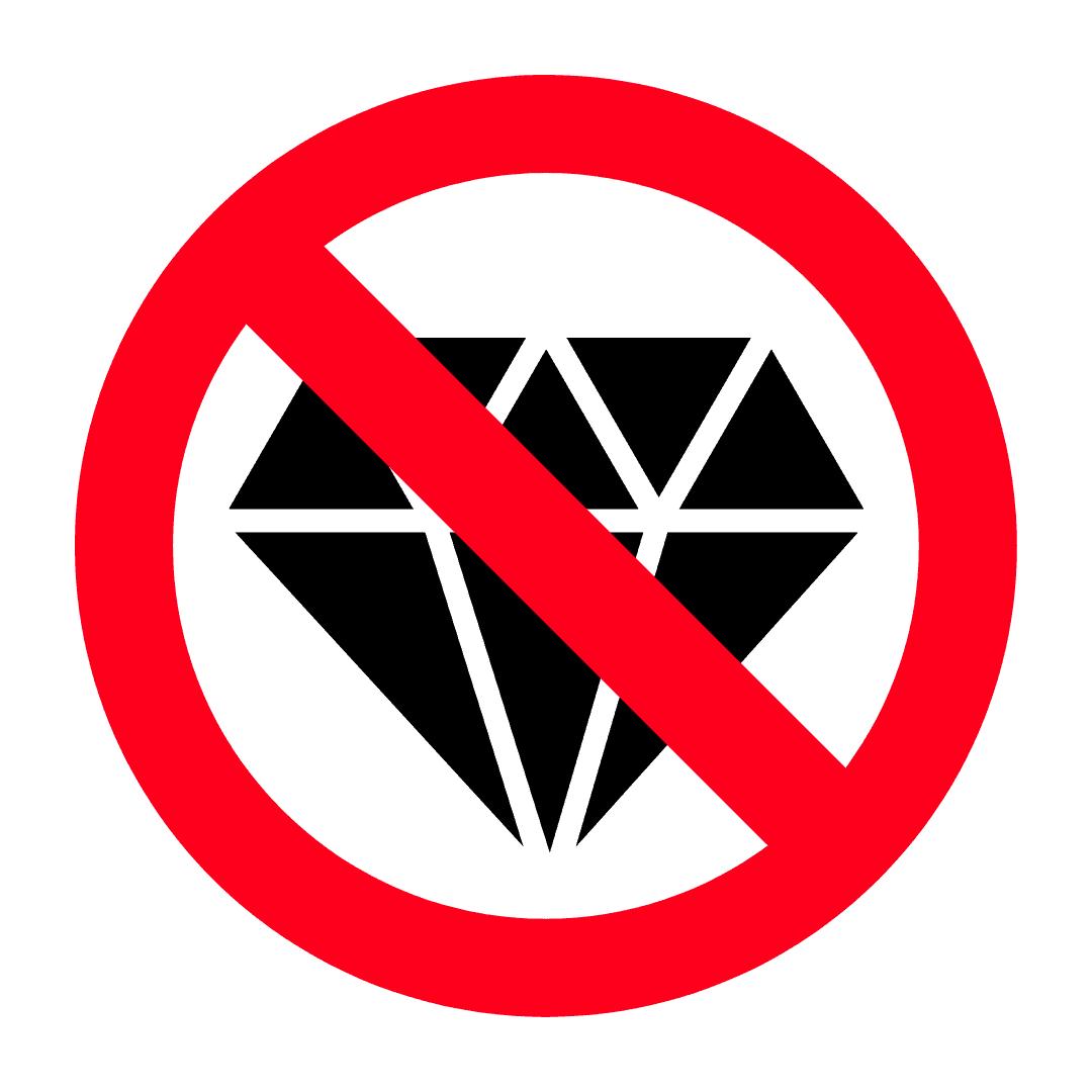 不允许出口的毛坯钻石
