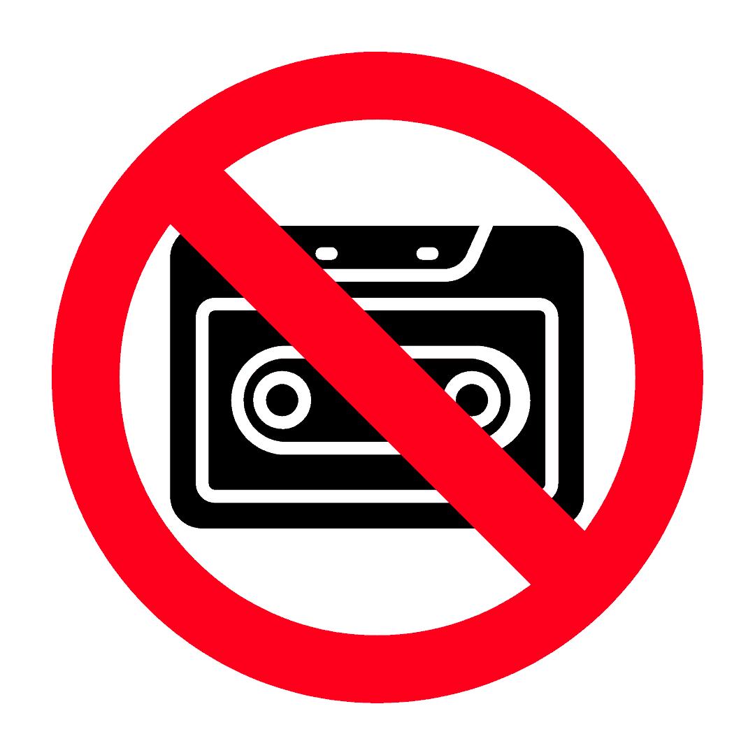 Bahan cetak atau digital tidak dibenarkan